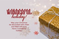 Christmas Hat Font | merry christmas font Product Image 4