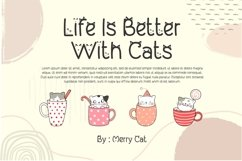 My Lovely Kitten - Cat Display Font Product Image 5