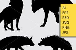 Hyena animal silhouette Product Image 2