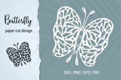 Free Butterfly Paper Cut Design Bundle for Cricut and Silhouette Product Image 4