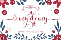 Lovey dovey Font Duo Plus Extras Product Image 1