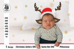 Christmas Antlers SVG  Santa Hat SVG  Pillowcase SVG Product Image 1