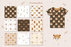 Animal and Rainbow Seamless Patterns, Nursery Digital Paper Product Image 3