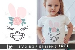 Easter SVG | Bunny Face Bunny Ears | Quarantined Easter SVG Product Image 1