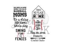 Baseball Bundle 6 images Digital Download/svg, png, jpg Product Image 1