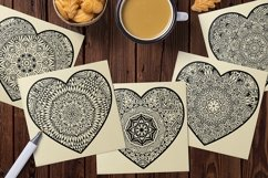 Decorated Hearts Silhouettes, Valentines svg, Mandala Product Image 4