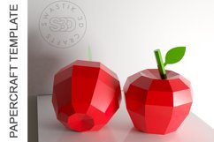 PDF Template of Apple fruit papercraft template / 3D craft Product Image 4