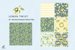 Lemon Fruit Seamless Pattern Tiles 6 x 6 Inches. Product Image 2
