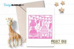 Happy Birthday princess paper cut design Product Image 5