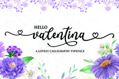 Valentina - a lovely callygraphy typeface Product Image 1