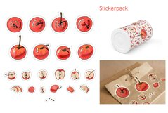 Collection with apple fruits illustration. Hand drawn sketch Product Image 6