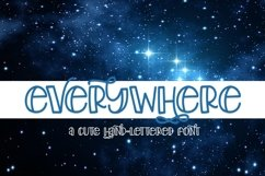Web Font Everywhere - A Cute Hand-Lettered Font Product Image 1