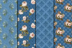 Shabby chic roses seamless patterns Product Image 2