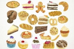 Watercolor Bakery Clipart, Bakery Clip Art, Bakery PNG Product Image 2