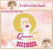 Black queens are born in December birthday t shirt design Product Image 2
