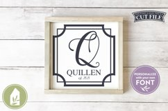 Square Border SVG Files, Family Name Wood Sign or Pillow SVG Product Image 1
