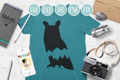 owl svg, mountain owl clipart, mountain, adventure explore Product Image 3