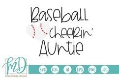 Baseball Heart - Baseball Cheerin' Auntie SVG Product Image 1