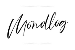 Monalls Script Signature Brush Font Product Image 4