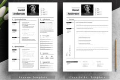 Clean Editable Resume Cv Template in Word Apple Pages Product Image 2