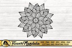 Flower Mandala SVG PNG EPS DXF Floral Mandala SVG Cut file Product Image 1