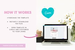 Pink Blush Floral 3-Page Blogger Media Kit Canva Template Product Image 4
