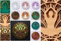 Meditation Mandala 3D Layered SVG Cut File Product Image 2