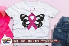 Butterfly svg, Breast Cancer svg, Cancer Awareness svg Product Image 1