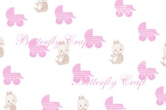 Sweet dreams digital paper, Baby shower paper Product Image 3