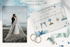 Nautical wedding map creator Watercolor clipart Product Image 6