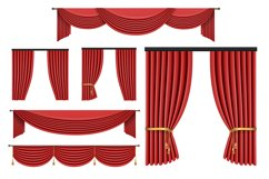 9 Vector Curtains Backgrounds Product Image 3