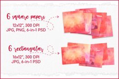 Red Watercolor Digital Paper, Sublimation Watercolor Texture Product Image 2