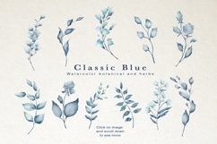 Classic Blue Watercolor Botanical Product Image 9
