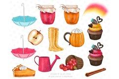 Fall Clipart, Autumn fashion Illustration Product Image 4