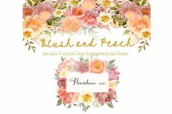 Watercolor Clipart Bundle Blush Pink and Peach Peony Product Image 2