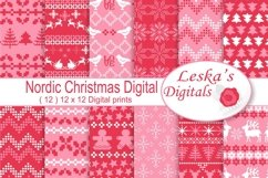 Nordic Christmas Digital Paper Product Image 1