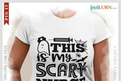 This is My Scary Nurse Costume SVG Cut File Product Image 3