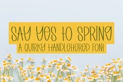 Web Font Say Yes to Spring - A Quirky Handlettered Font Product Image 1