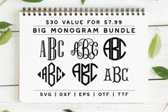 BIG Monogram Font Bundle | The Ultimate Bundle! Product Image 1