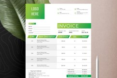 Modern Invoice Template Google Sheets Excel Numbers Format Product Image 9