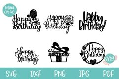 Cake Topper Bundle SVG | Happy Birthday SVG Bundle Product Image 2