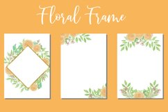 Floral Watercolor Wedding Invitations Set Card SVG Product Image 1