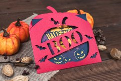 Halloween Boo Pumpkin Envelope Invitation cutting file Product Image 2