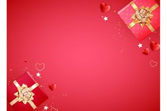 Valentine's Day Background Template Card Design Product Image 1