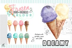 Watercolour Ice creams and Girl Graphics Product Image 5