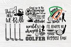 Golf SVG Bundle, Golfing Svg, Golfer Svg Quotes Cut Files Product Image 4