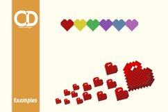 36 Retro style Pixel hearts Product Image 2