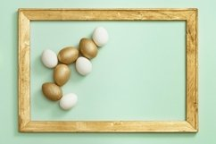 Easter eggs white and gold colored Product Image 3