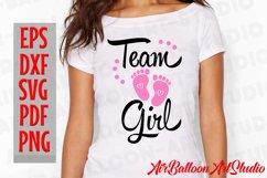 Team Boy Svg & Team Girl Svg Gender Reveal Svg Pregnancy Svg Product Image 4