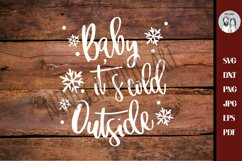 Baby its Cold outside, SVG, DXF, Silhouette, Baby It's Cold Product Image 3